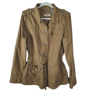 LEVI'S Brown Khaki Military Utility Jacket Size XL